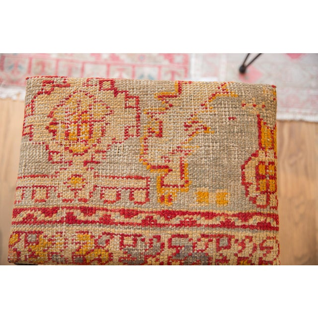 :: Exclusive Old New House¨ rug ottoman / footstool made from reclaimed industrial fold out base and upholstered vintage...