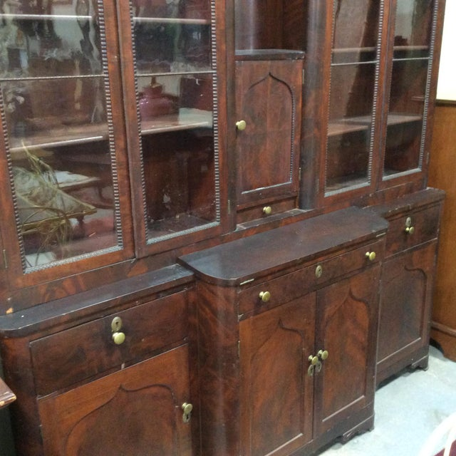 American Classical Mahogany Classical Gentleman's Secretary Bookcase For Sale - Image 3 of 8