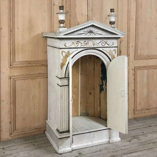 French 19th Century French Neoclassical Painted Tabernacle For Sale - Image 3 of 13