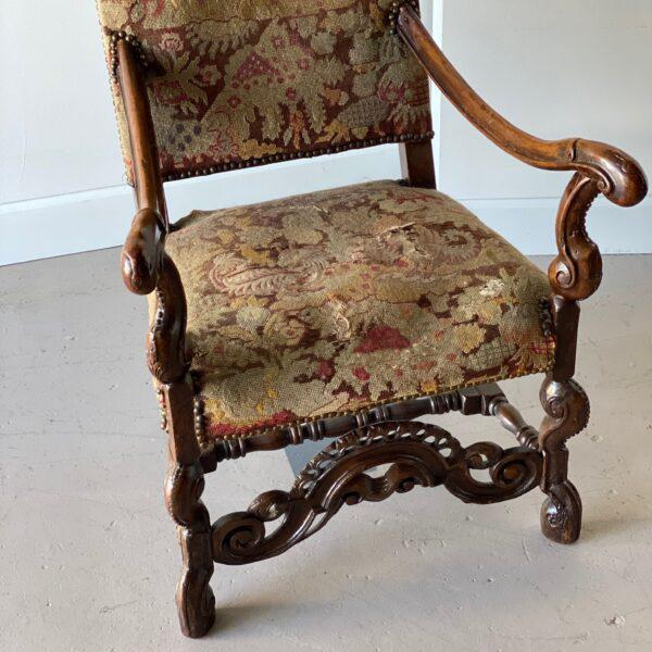William IV William IV Walnut Carved Armchair For Sale - Image 3 of 8