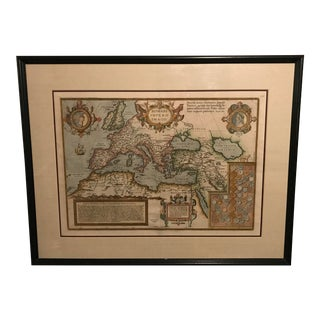 Framed Romani Imperii Imago Map of the Roman Empire, 1579
