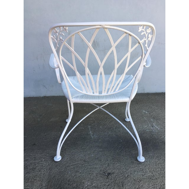 1950s Woodard Art Nouveau Iron Patio/Outdoor Lounge Chairs, 9 Available For Sale - Image 5 of 7