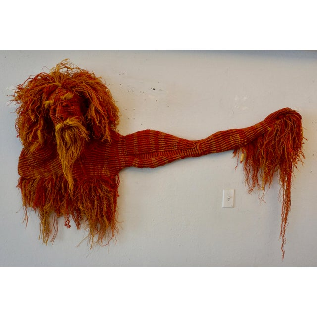 Textile 1980s Mid-Century Modern Handwoven Macrame Wall Hanging by Judee Du Bourdieu For Sale - Image 7 of 7