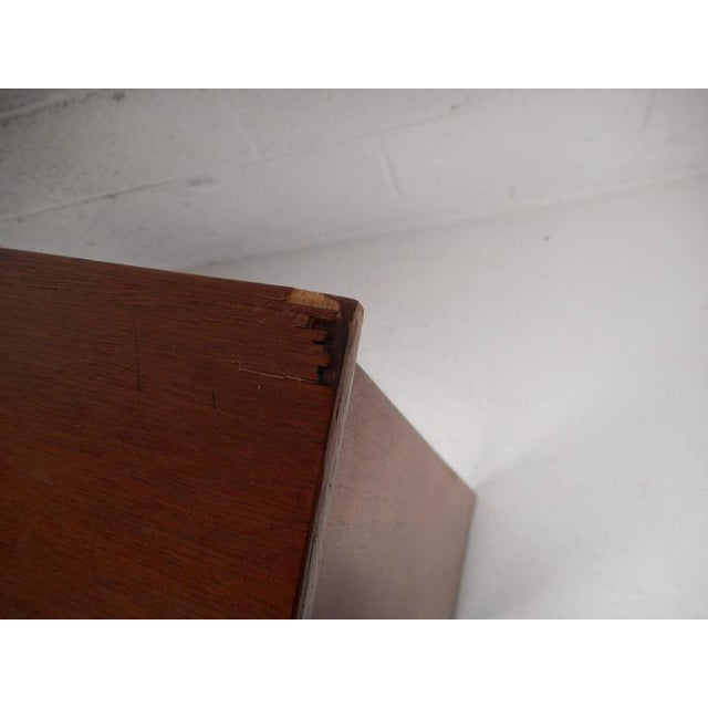Mid-Century Modern Queen Size Bookshelf Headboard and Footboard - Image 7 of 9