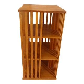 Vintage Modern Mahogany Revolving Bookcase For Sale