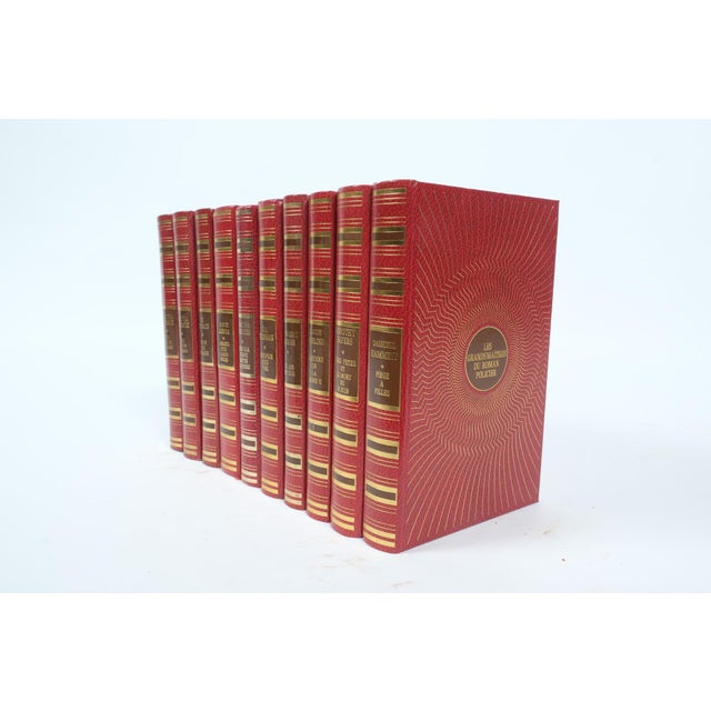 Set of ten leather bound books printed in France in the 1970's.