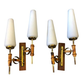 1950s Italian Mid-Century Modern Amazing Wall Sconces - Set of 2 For Sale