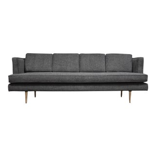 Edward Wormley for Dunbar Grey Sofa Mid Century Modern For Sale