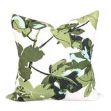 Image of Peter Dunham Fig Leaf Outdoor Pillow Cover, White For Sale