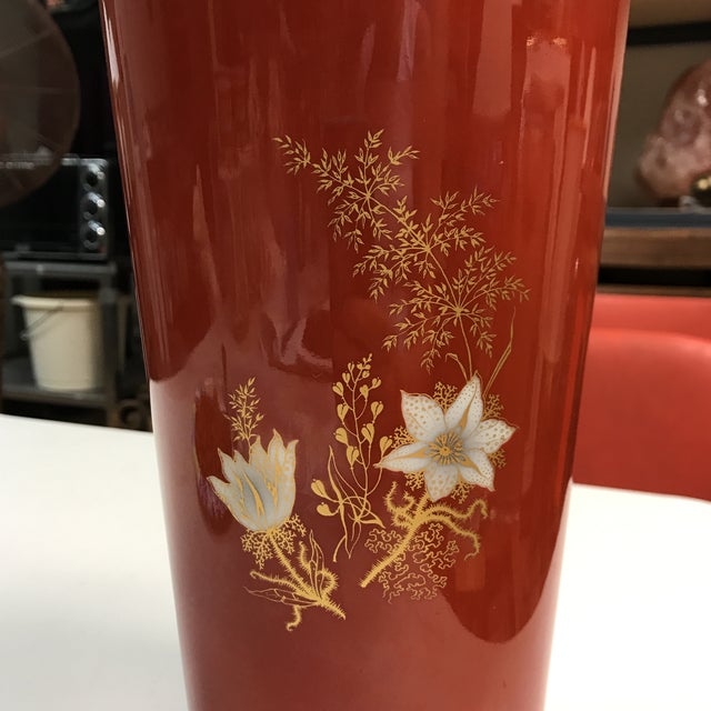 Jaeger & Co. Hand-Painted Vase For Sale In West Palm - Image 6 of 11