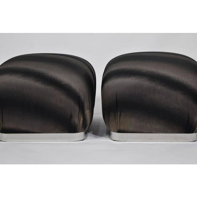 Pair of Souffle Poufs by Weiman - Image 3 of 8