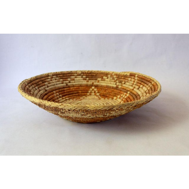 Mid 20th Century Vintage Mid-Century Woven Basket For Sale - Image 5 of 5