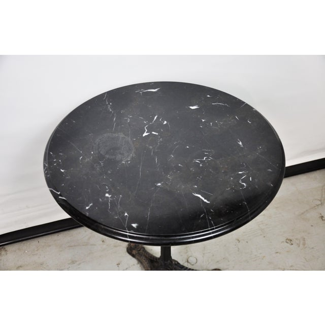 1970s Italian Black Marble Bistro Table For Sale - Image 5 of 13