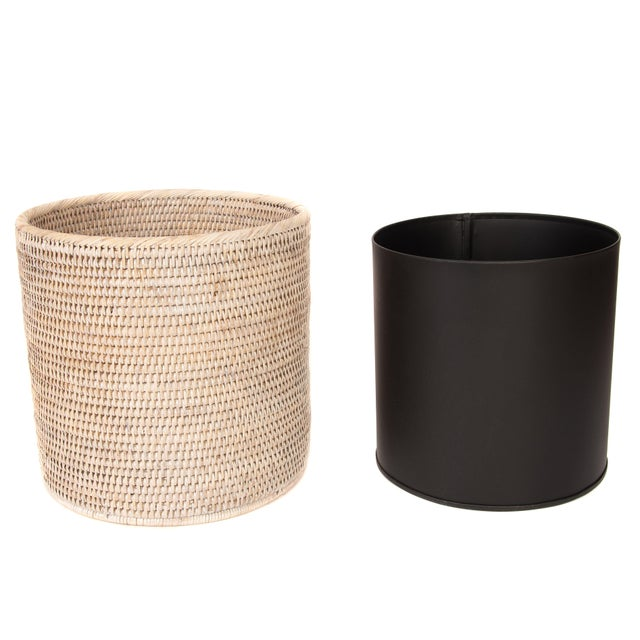 Artifacts Rattan hand woven waste baskets provide the perfect accent to any room in the house with a tight weave, durable...