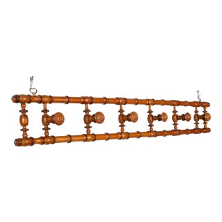 French Faux Bamboo Coat Rack For Sale
