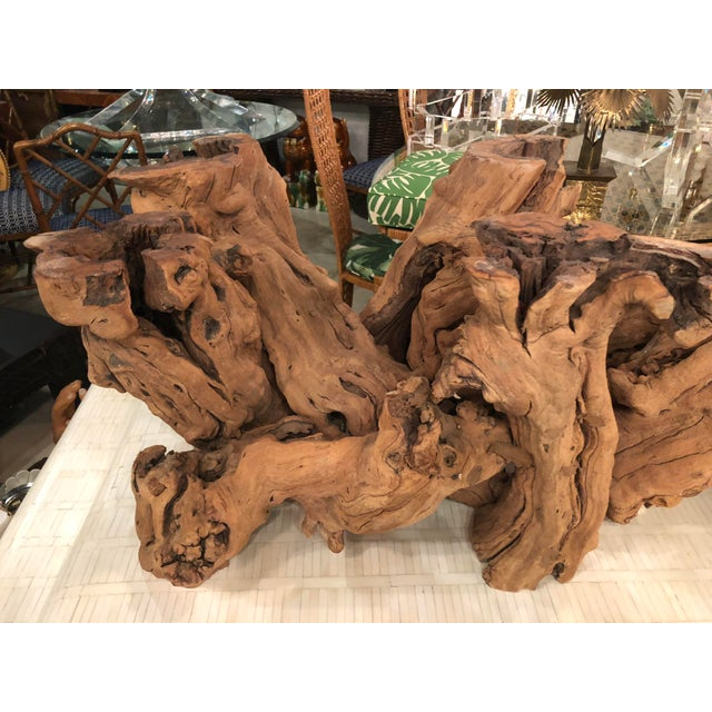Vintage Palm Beach Driftwood Cypress Coffee Cocktail Table For Sale - Image 10 of 13