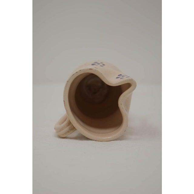 Vintage Puglia Apulia Italy Ceramic Pitcher For Sale - Image 4 of 7