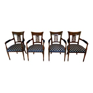 Late 18th Century Vintage French Armchairs- Set of 4 For Sale