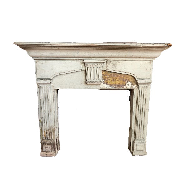 1900s Fireplace Mantel / Architectural Remnant For Sale