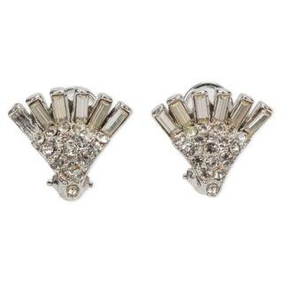 Rhinestone Sunburst Earrings For Sale