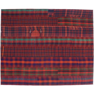 Vintage Tartan Plaid Area Rug With Modern Rustic Charm and Luxury Lodge Style For Sale