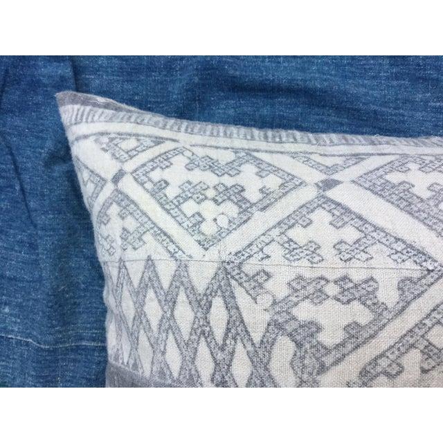 Silver Cross Linen Batik Pillow - Image 3 of 6