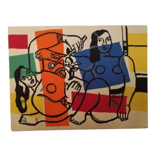 1980s Contemporary Fernand Leger's Needlepoint Tapestry - Not Framed For Sale