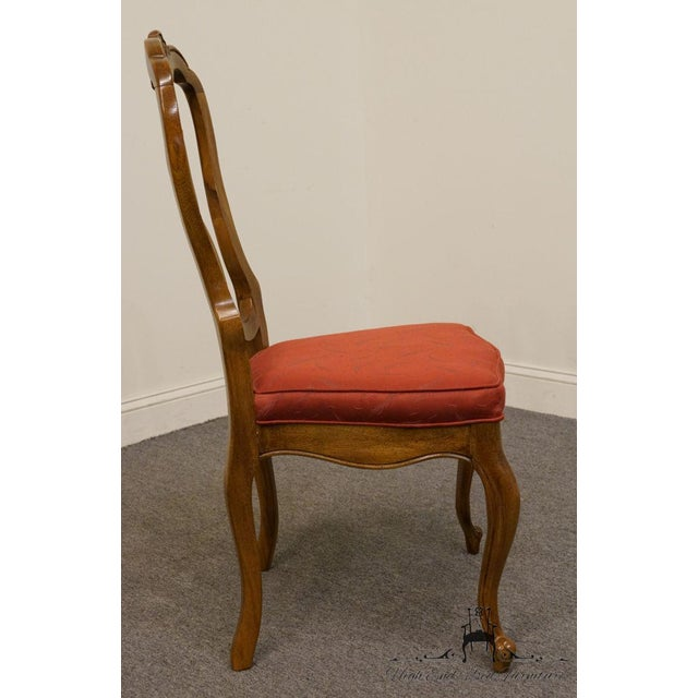 Wood Late 20th Century Vintage Thomasville Furniture Camille Collection Dining Chair For Sale - Image 7 of 10