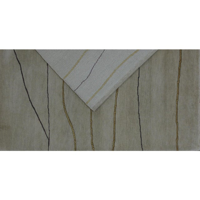 Soumak Design Hand Woven Wool Rug - 6' x 9' - Image 4 of 6