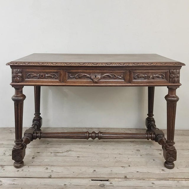 19th Century French Renaissance Writing Table For Sale - Image 13 of 13