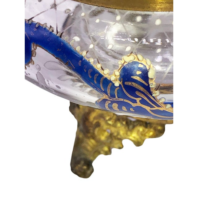 Antique French Glass and Enamel Dresser Box For Sale In Dallas - Image 6 of 7