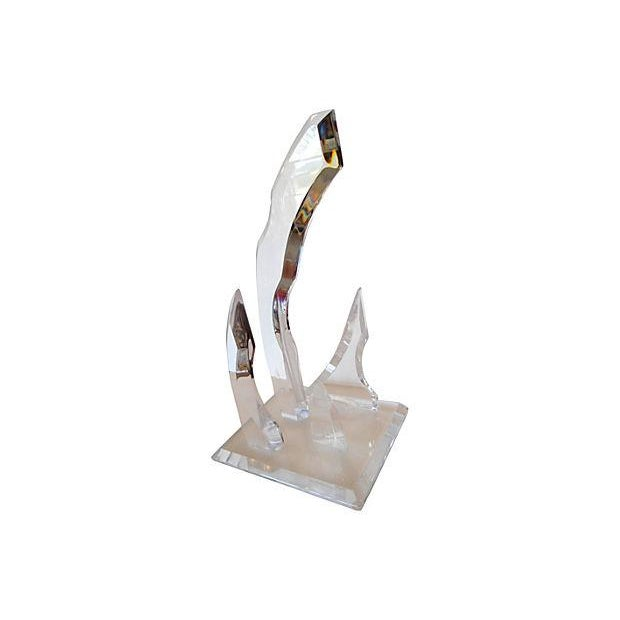 Abstract Lucite Sculpture - Image 2 of 4