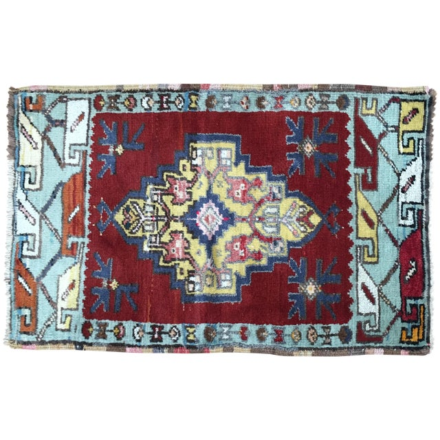 Vega Small Turkish Tribal Rug - 2′1″ × 3′2″ - Image 1 of 7