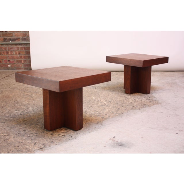 Pair of Milo Baughman 'Cruciform' End Tables For Sale - Image 13 of 13