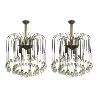 French Crystal Tear Drop Chandeliers