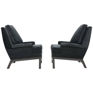 Mid-Century Henry Calvin Fabric Upholstered Club Chairs - a Pair For Sale