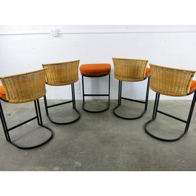 Milo Baughman for Shaver-Howard Cantilever Bar Stool - Set of 5 - Image 10 of 11