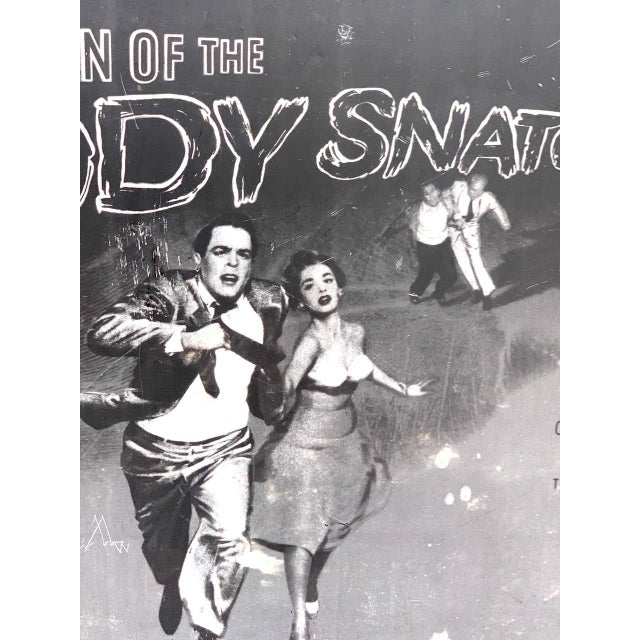 Invasion of the Body Snatchers, Black & White Movie Theatre Poster, 1956 For Sale In Atlanta - Image 6 of 13