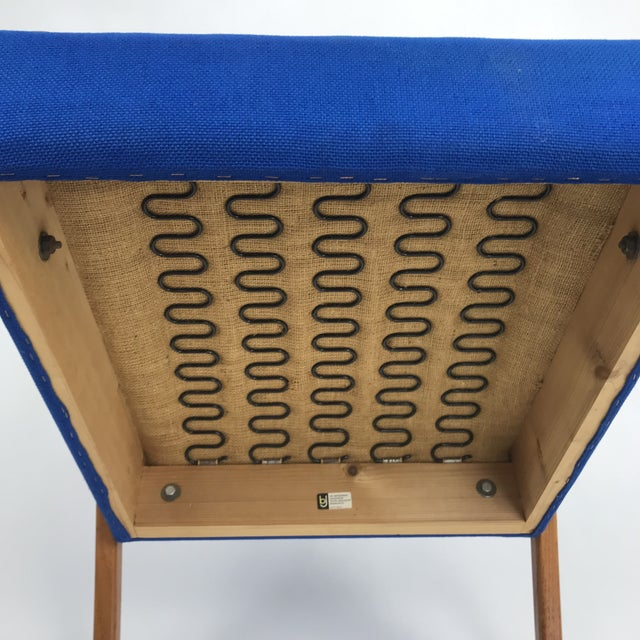 Royal Blue Swedish Modern Lounge Chair For Sale - Image 11 of 13