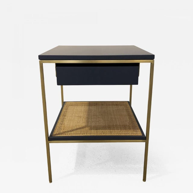 Re: 392 Bedside Table in Kensington Blue Lacquer For Sale In New York - Image 6 of 6