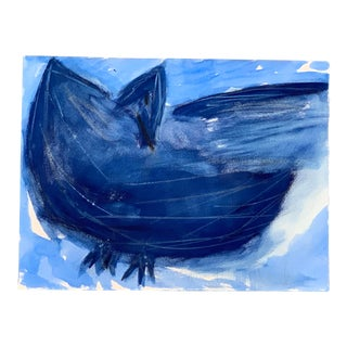 """Original Signed Robert Cooke """"Blue Duck"""" Painting For Sale"""