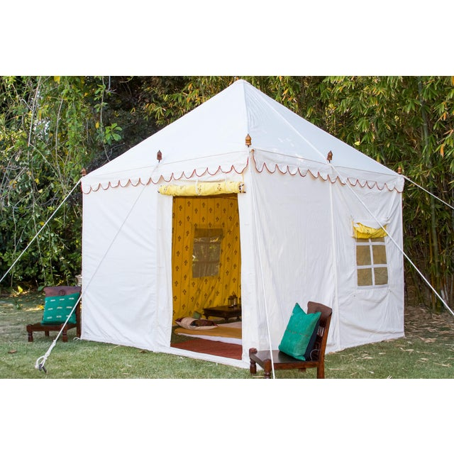 A contemporary tent handcrafted by skilled artisans from Rajasthan, India in a design exclusive to De-cor. This tent...