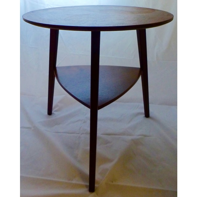 Danish Modern Peter Hdivt Style Side Table - Image 7 of 8