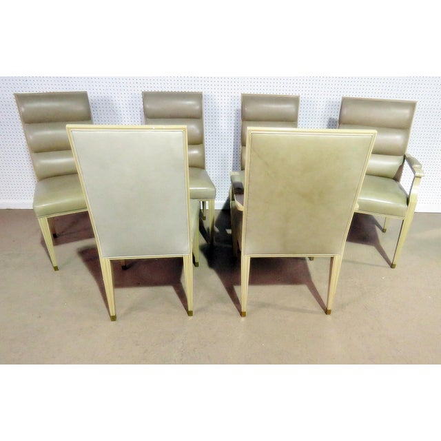 Animal Skin Set of 6 Mid Century Modern Dining Chairs For Sale - Image 7 of 9