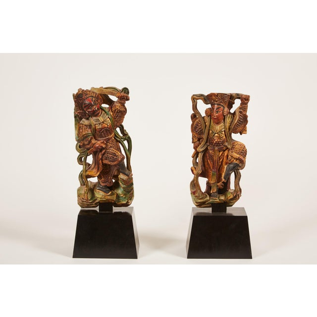 Pair of 20th Century Taiwanese Deity with Stand - Image 2 of 9