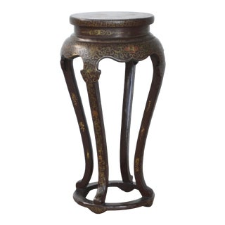 Chinoiserie Hollywood Regency Decorated Pedestal For Sale