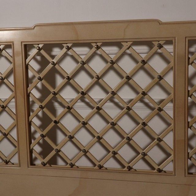 Metal Henredon Lattice Canopy Bed For Sale - Image 7 of 13