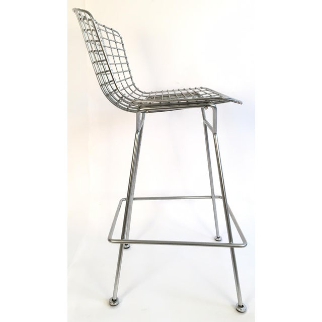 Harry Bertoia Knoll Signed Chrome Bar Counter Stools - a Pair - Image 5 of 7