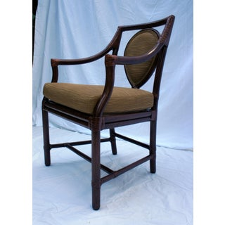 Vintage McGuire Model No. M-26 Rattan and Leather Corner Wraps Arm Chair Preview