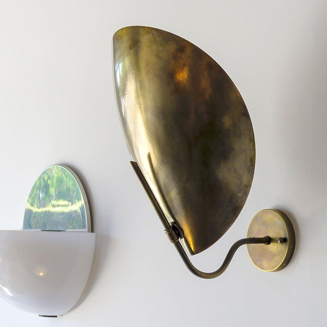 Contemporary Raw Brass Beetle Wall Lights For Sale - Image 3 of 11
